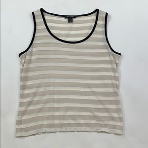 St. John Striped Sleeveless Top